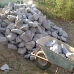 Tonnen von Steinen